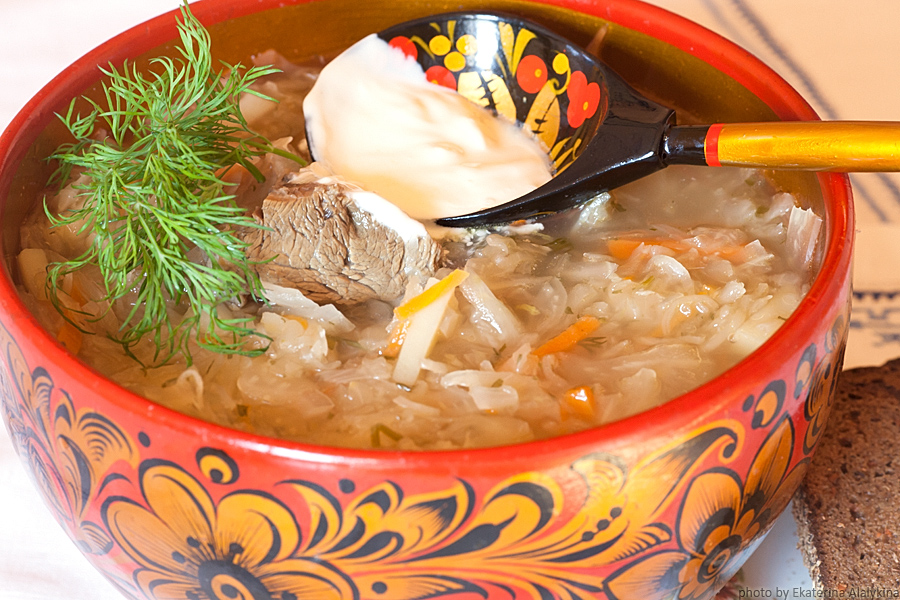 Russian Shchi Cabbage Soup