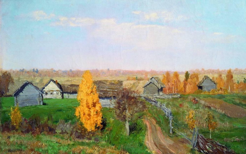 Isaak Levitan - Golden Autumn. Slobodka