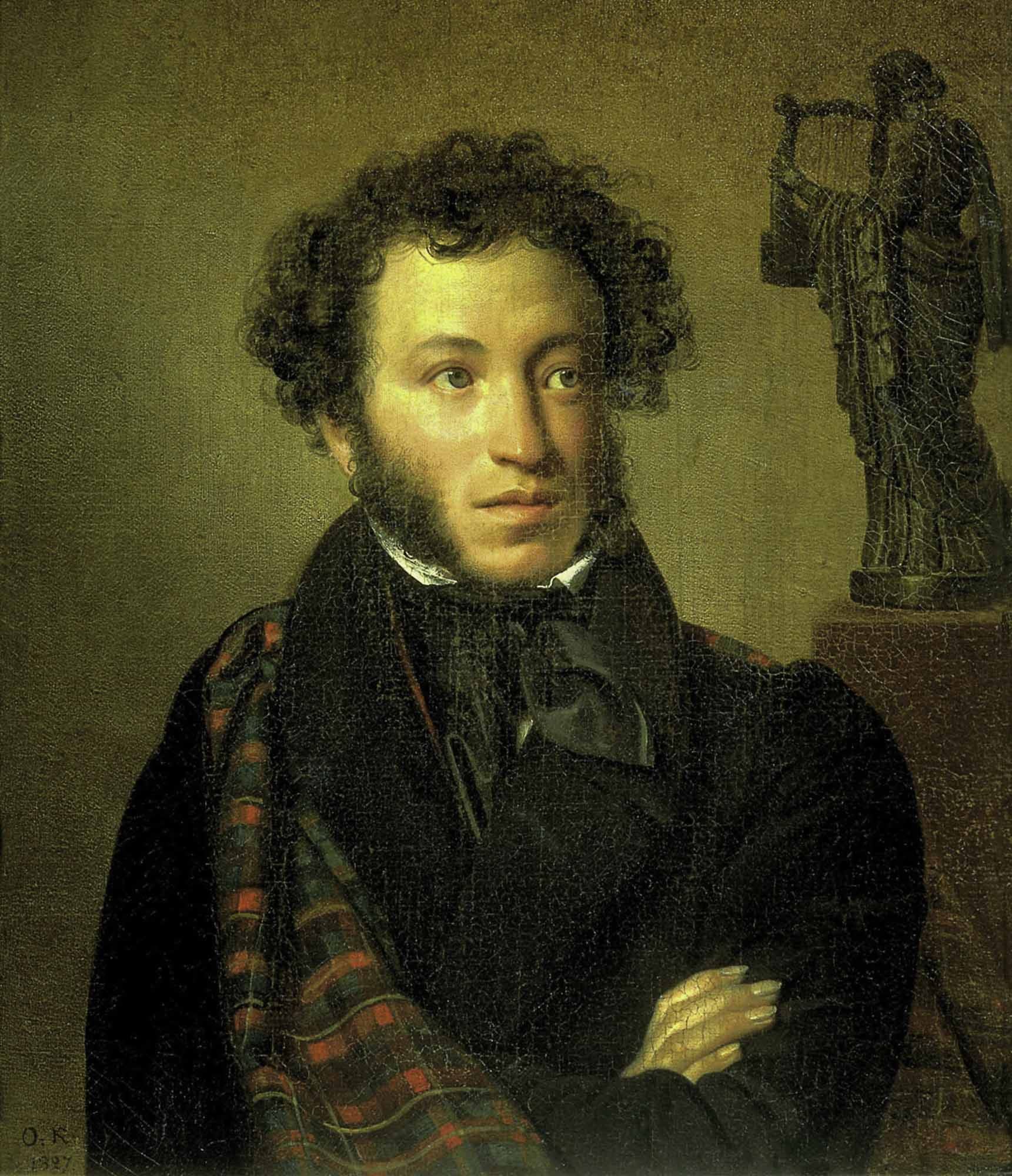 The portrait of Alexander Pushkin by Orest Kiprensky