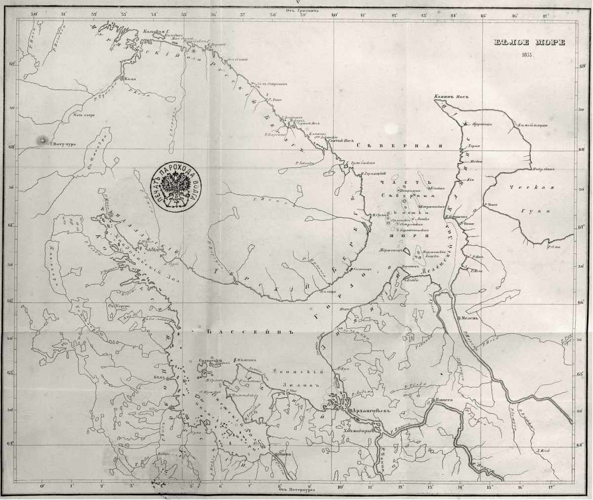 The map of the White Sea