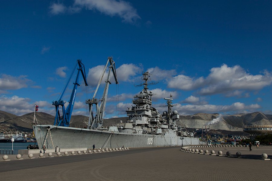 "The gun cruiser and museum ship ""Mikhail Kutuzov"""