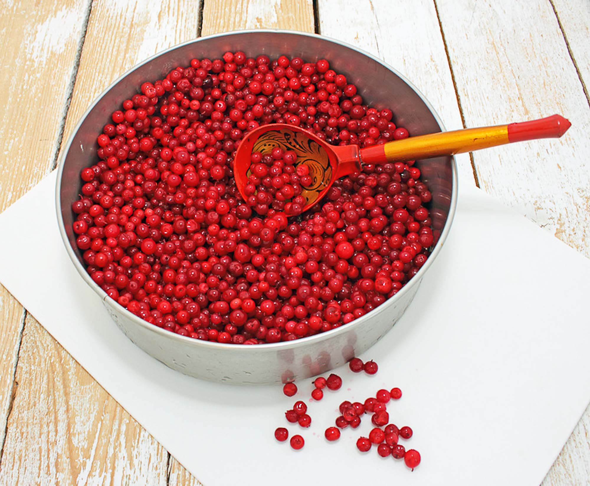 Soaked Cowberries Berries