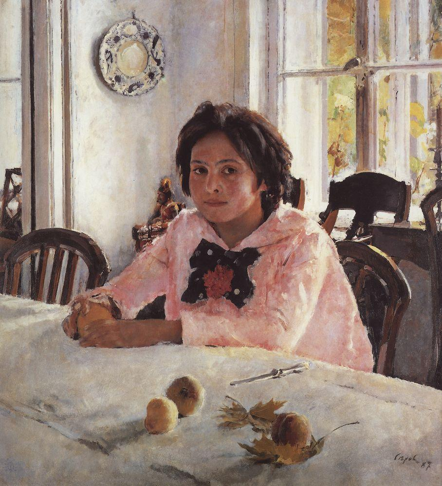 Valentin Serov Girl with Peaches