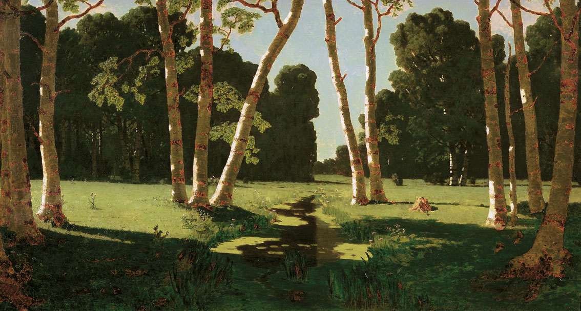 Arkhip Kuindzhi - Birch grove, oil on canvas (1879)