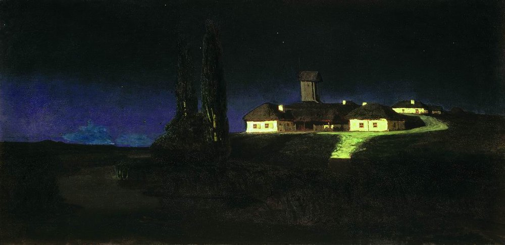 Arkhip Kuindzhi - Ukrainian night, oil on canvas (1876)
