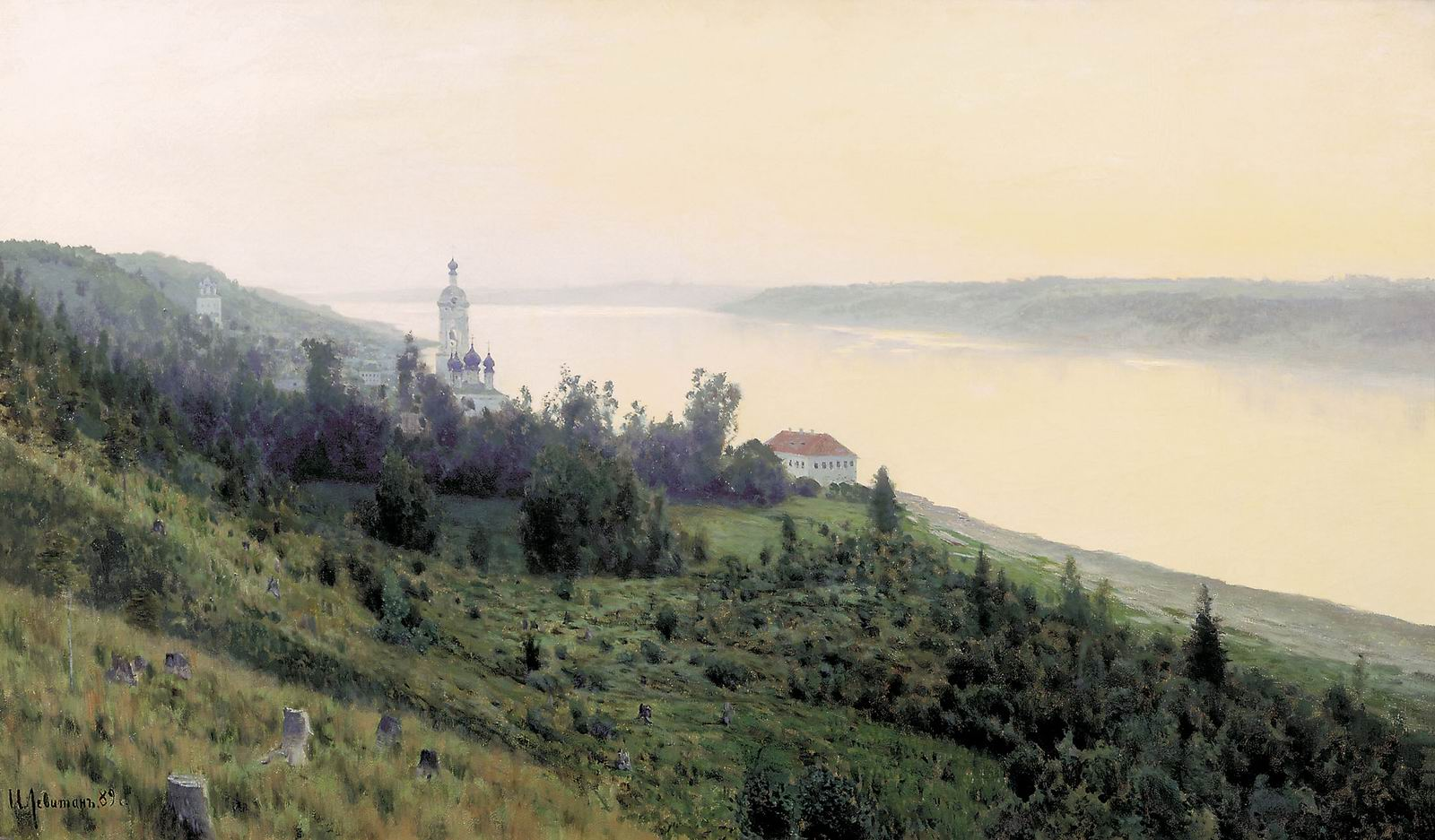 Isaac Levitan - Evening. Golden Ples, oil on canvas (1889)