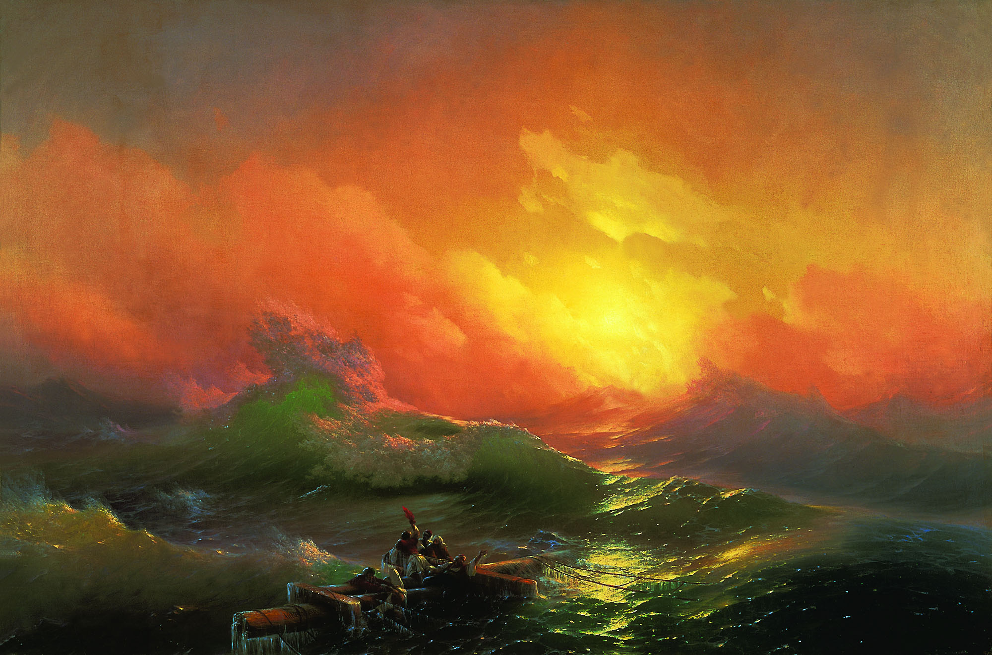 Ivan Aivazovsky - The ninth wave, oil on canvas (1850)