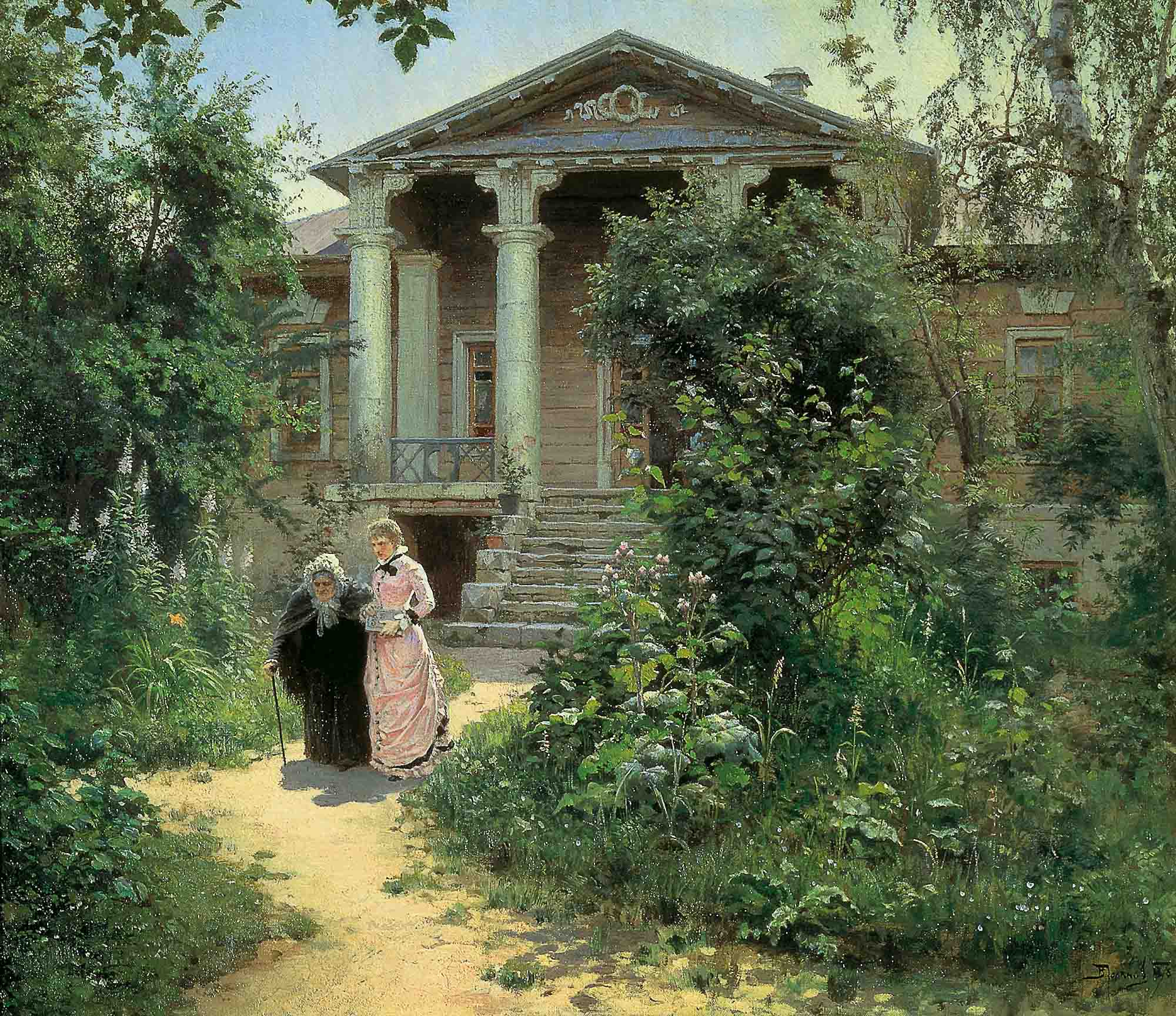 Vasily Polenov - Grandmother's garden, oil on canvas (1879)