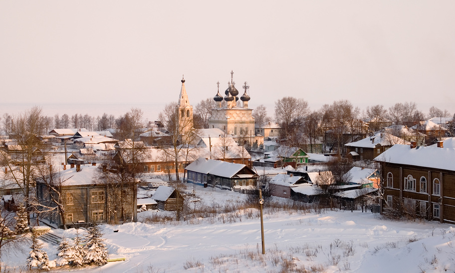 Church of the Merciful Saviour and low-rise buildings of Belozersk