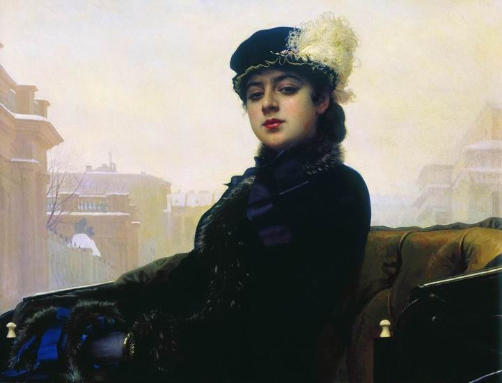 Ivan Kramskoy Portrait of an unknown woman, oil on canvas (1883)