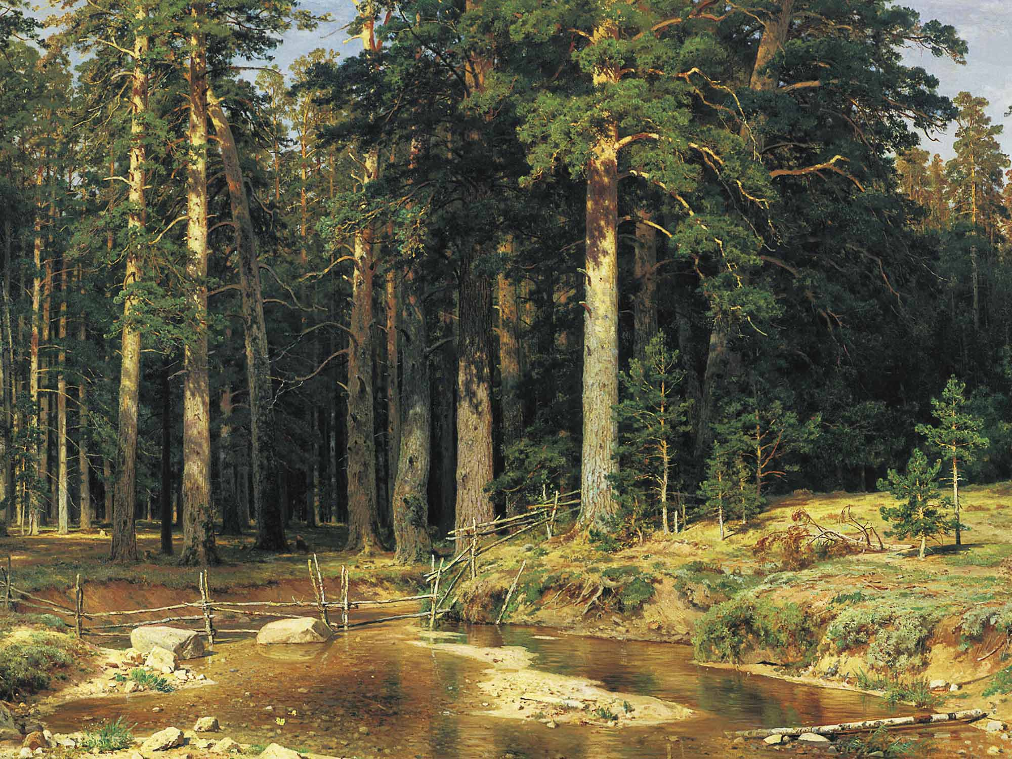 Russian Artist Ivan Shishkin - Mast-tree grove, oil on canvas (1898)