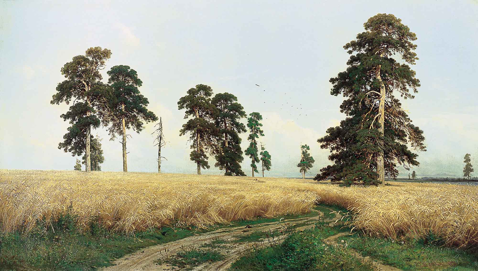 Russian Artist Ivan Shishkin - Rye, oil on canvas (1878)