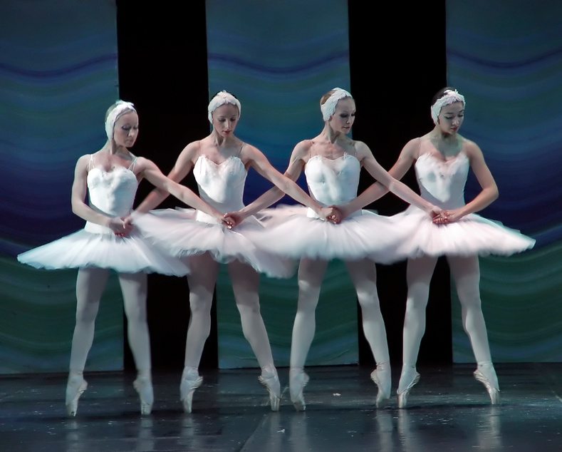 The ballet Swan Lake Dance of the little swans