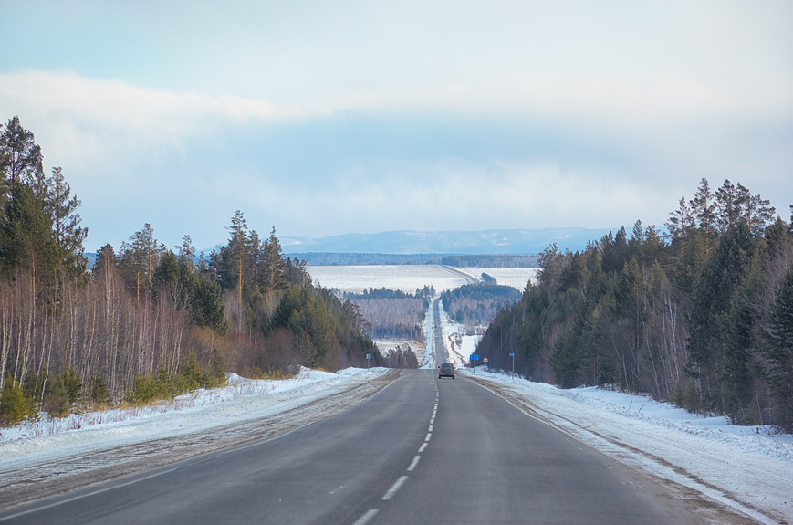 Trans-Siberian highway. The road Baikal