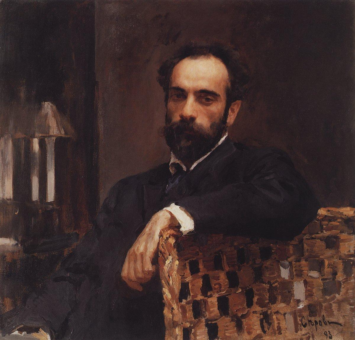 Valentin Serov Portrait of the artist Isaac Levitan, oil on canvas (1893)