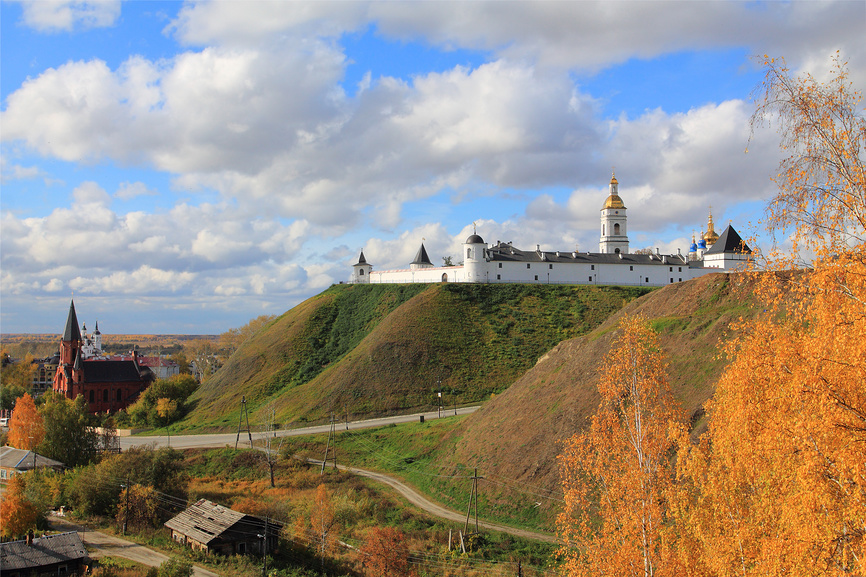 Tobolsk and Tobolsk Kremlin - the only stone kremlin in Siberia, Russia