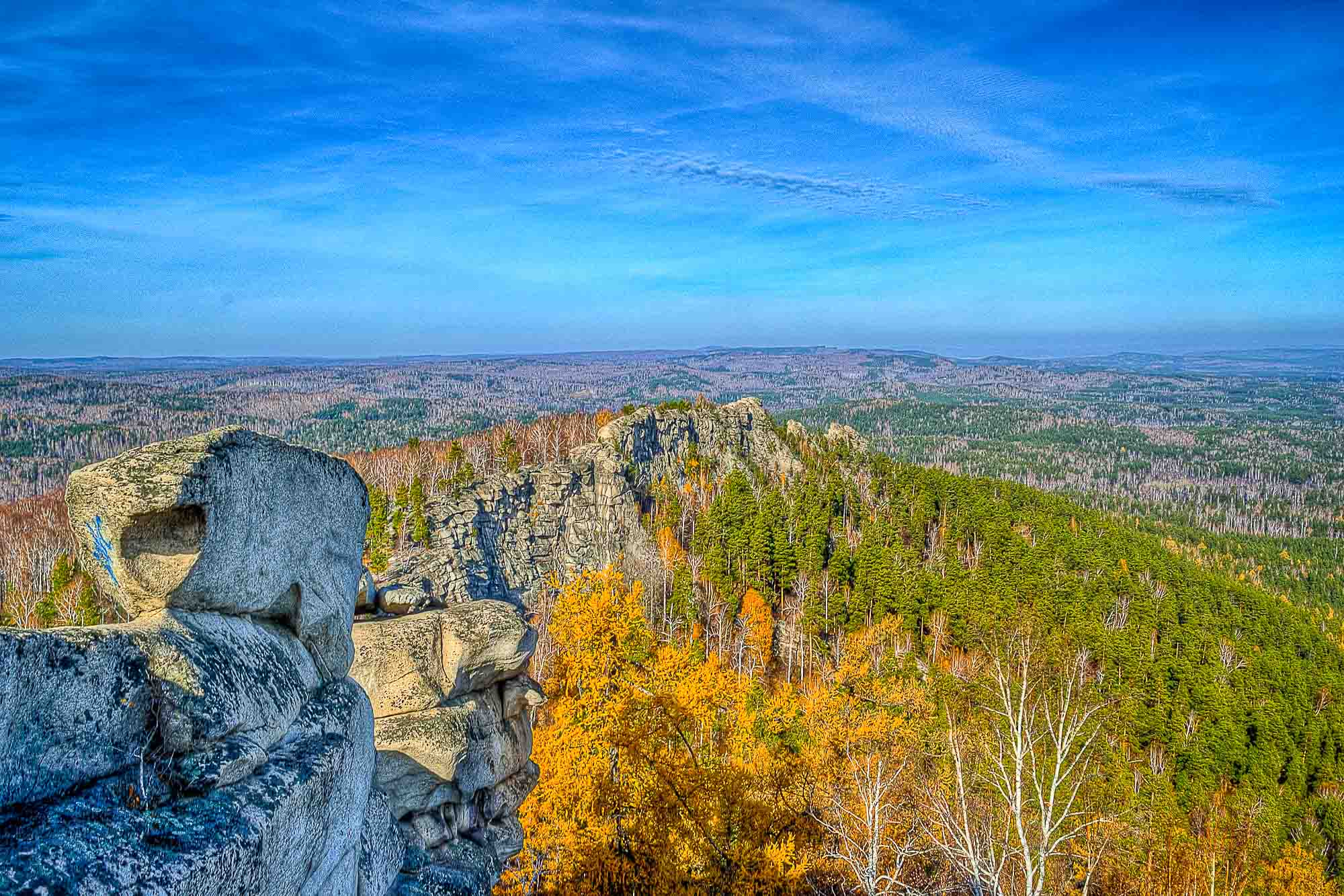 Ural Mountains divide Russia into Europe and Asia