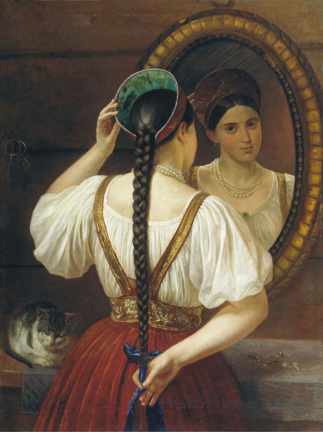 Girl in front of a mirror (1848)