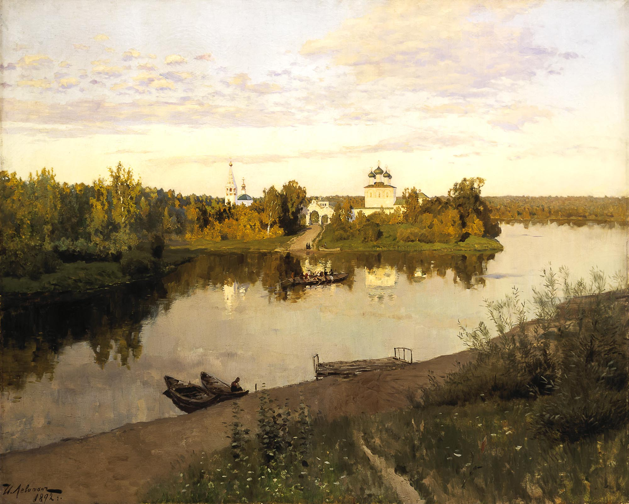 Isaac Levitan. Evening Bells (1892 )