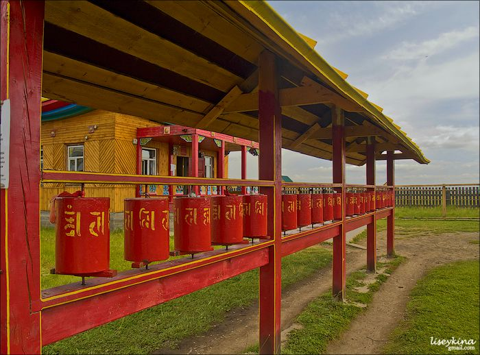 When we spin the prayer wheel, prayers start to move