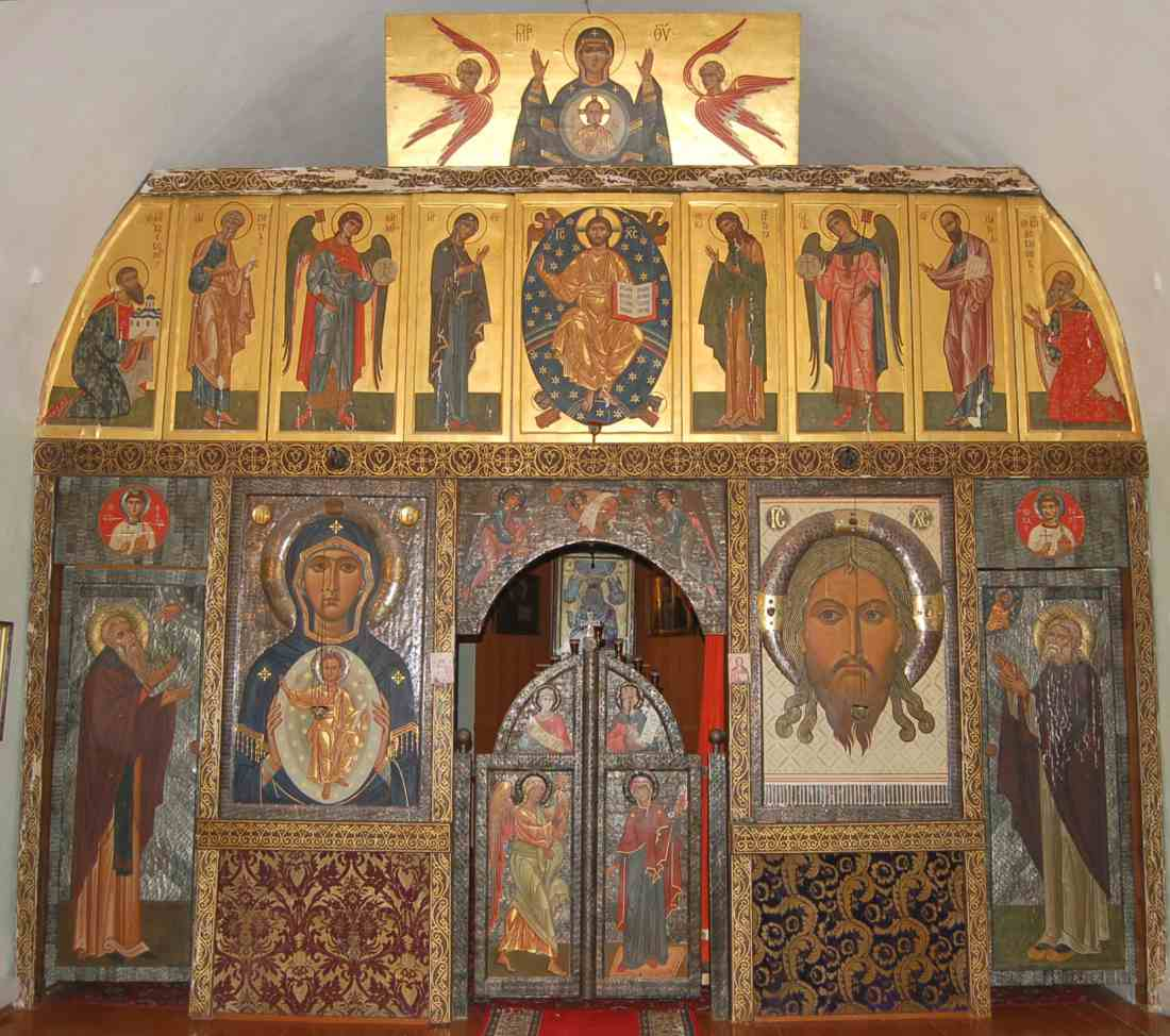 iconostasis by Father Zenon, Pskov cathedral